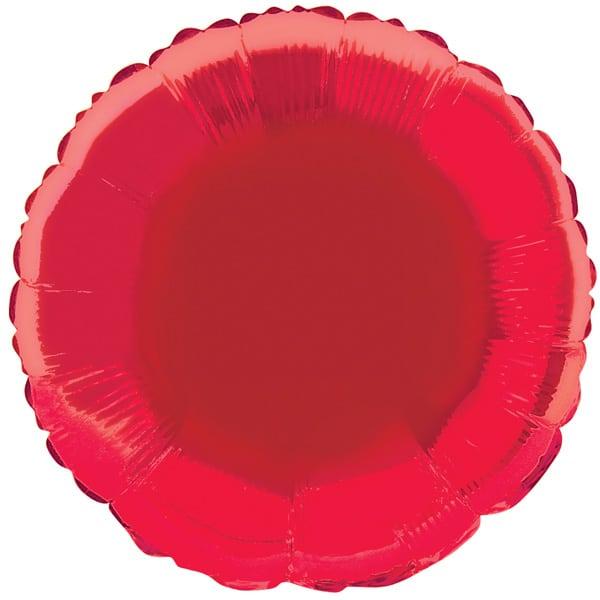Red Round Foil Helium Balloon 46cm / 18Inch