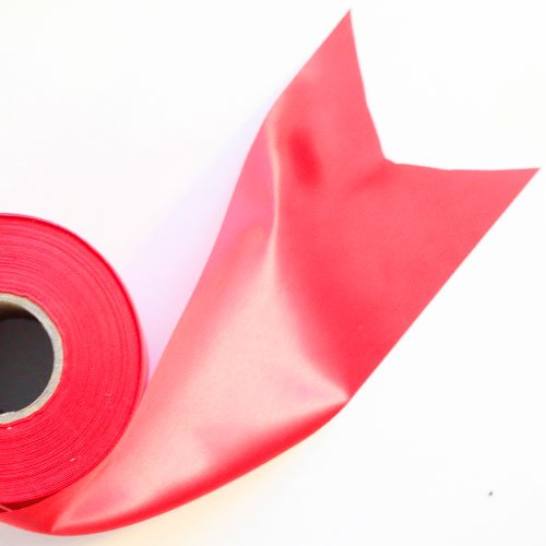 Red Satin Faced Ribbon Reel 100mm x 50m