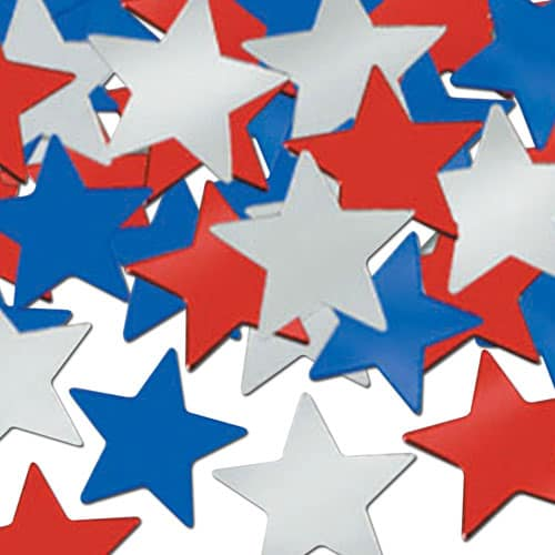 Red Silver Blue Stars Table Confetti – 28 Grams Product Image