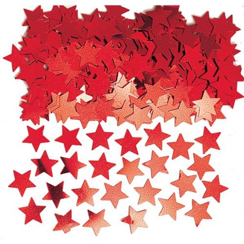 Red Stars Table Confetti - 14 Grams