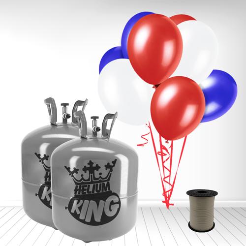 Red White Blue Large Helium Gas Balloons Celebration Kit x 2 Product Image