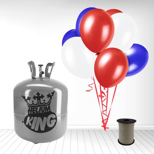 Red White Blue Large Helium Gas Balloons Celebration Kit Product Image