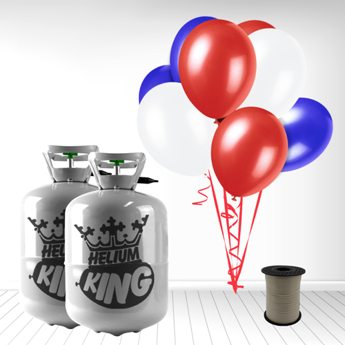 Red White Blue Small Helium Gas Balloons Celebration Kit x 2 Product Image