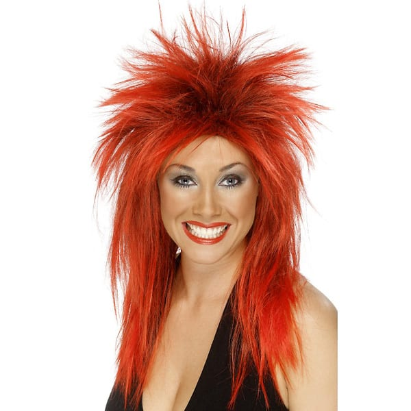 Red and Black Tina Ladies Long Wig