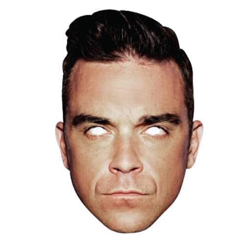 Robbie Williams Cardboard Face Mask Product Image