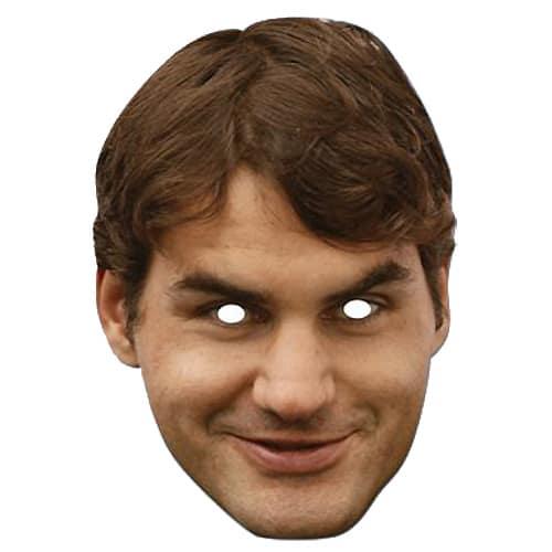 Roger Federer Cardboard Face Mask