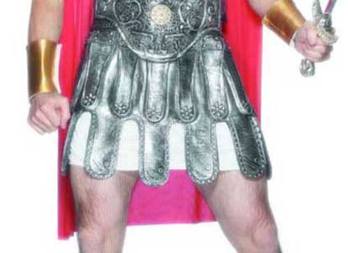 Roman Soldiers Skirt Armour Silver Rubber Product Image