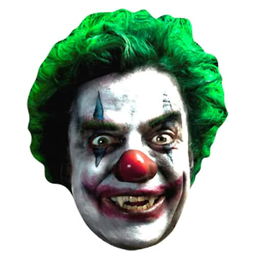 Scary Clown Halloween Cardboard Face Mask Product Image