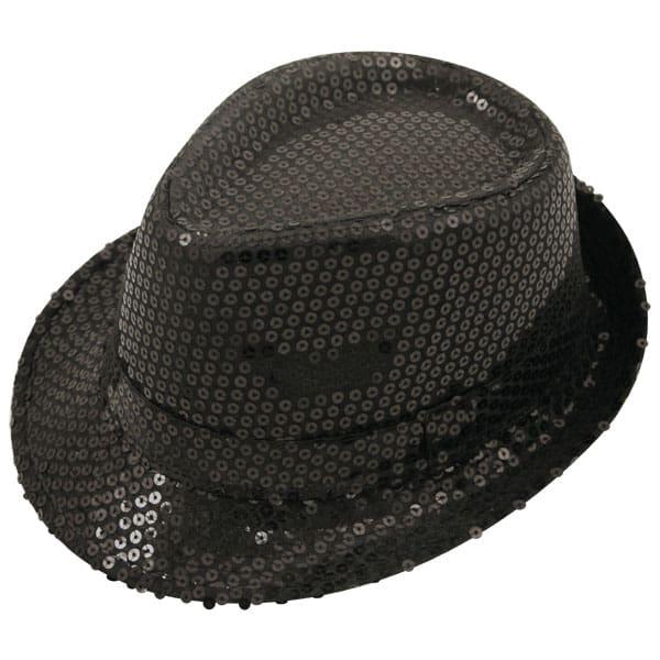 Sequin Black Gangster Hat