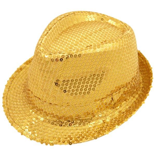 Sequin Golden Gangster Hat
