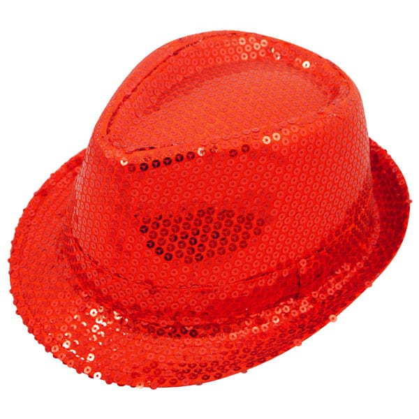 Sequin Red Gangster Hat Product Image