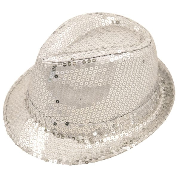 Sequin Silver Gangster Hat Product Image
