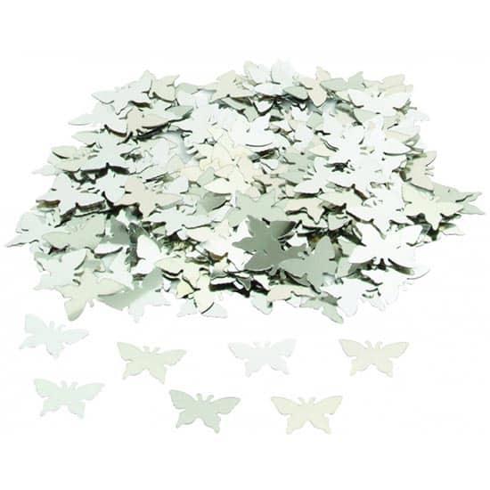 Silver Butterflies Table Confetti - 14 Grams Product Image