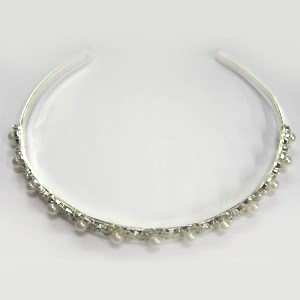 Silver Diamante and Pearl Headband