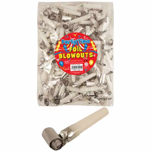 Silver Foil Blowout - Pack of 144