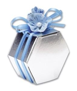 Silver Hexagonal Box Product Image