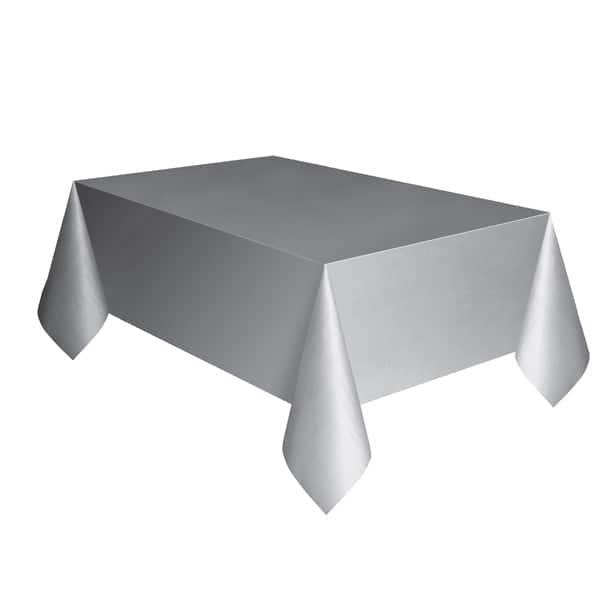 Silver Plastic Tablecover 274cm x 137cm