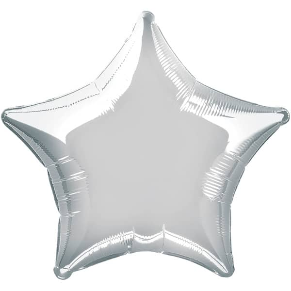 Silver Star Foil Helium Balloon 51cm / 20Inch Product Image