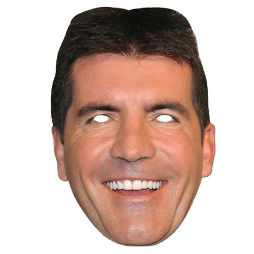 Simon Cowell Cardboard Face Mask