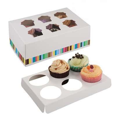 Six Cupcake Box Product Image