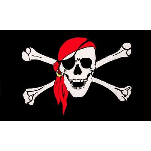 Skull with Scarf Pirate Flag - 5 x 3 Ft