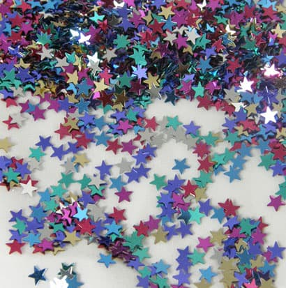 Small Assorted Stars Table Confetti - 14 Grams Product Image