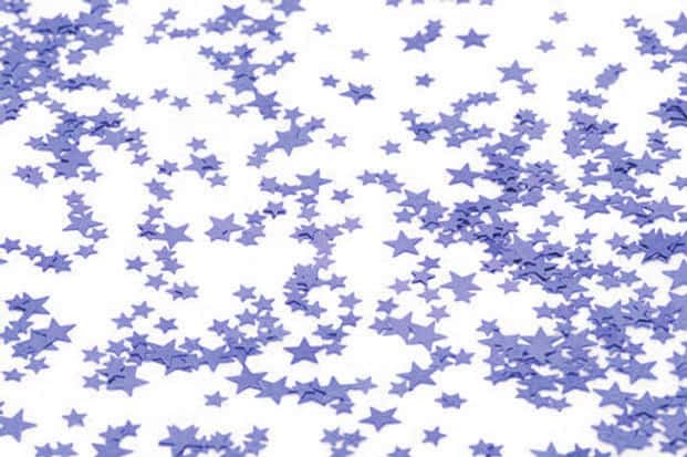 Small Lilac Stars Table Confetti - 14 Grams Product Image