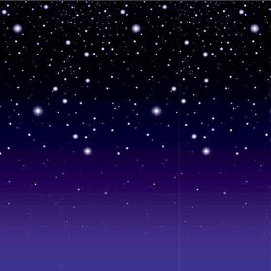 Starry Night Room Roll Backdrop Scene Setters 9.1m long
