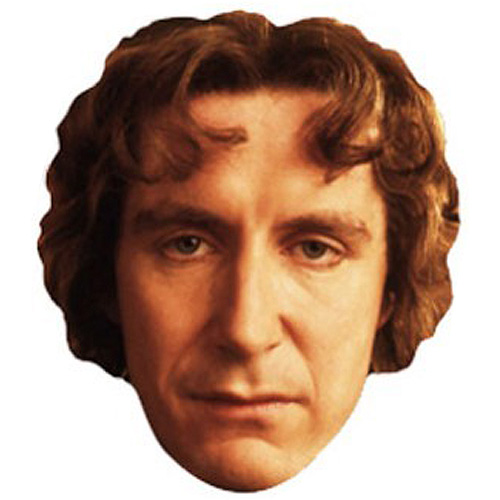Dr Who The 8th Doctor Cardboard Face Mask