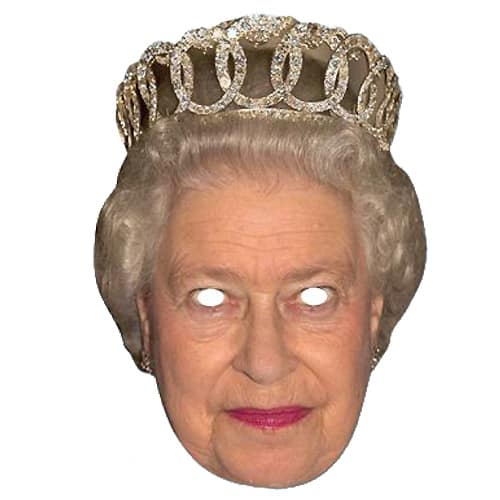 The Queen Cardboard Face Mask