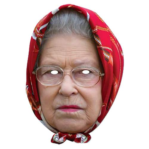 The Queen Headscarf Cardboard Face Mask