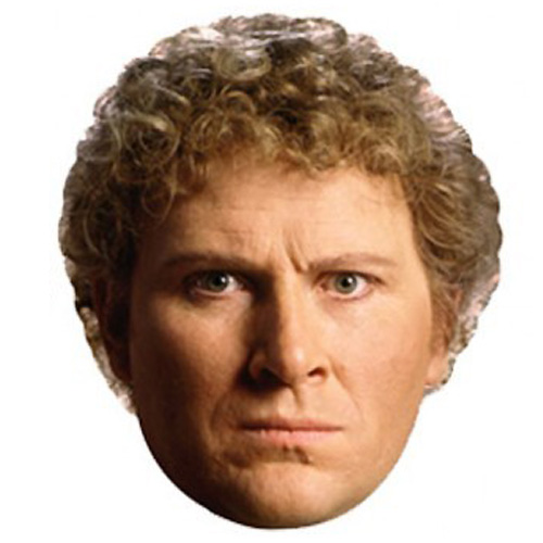 Dr Who The 6th Doctor Cardboard Face Mask