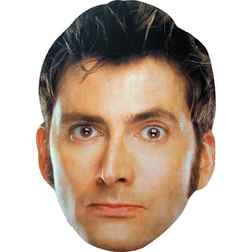 Dr Who The 10th Doctor Cardboard Face Mask Product Image