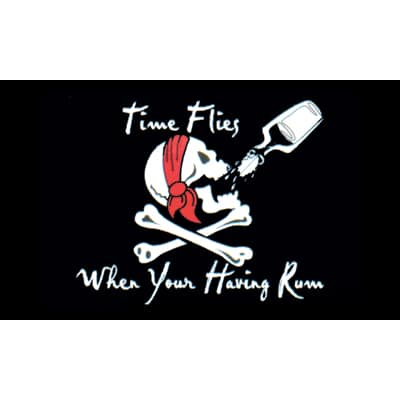 Time Flies When You are Having Rum Pirate Flag - 5 x 3 Ft