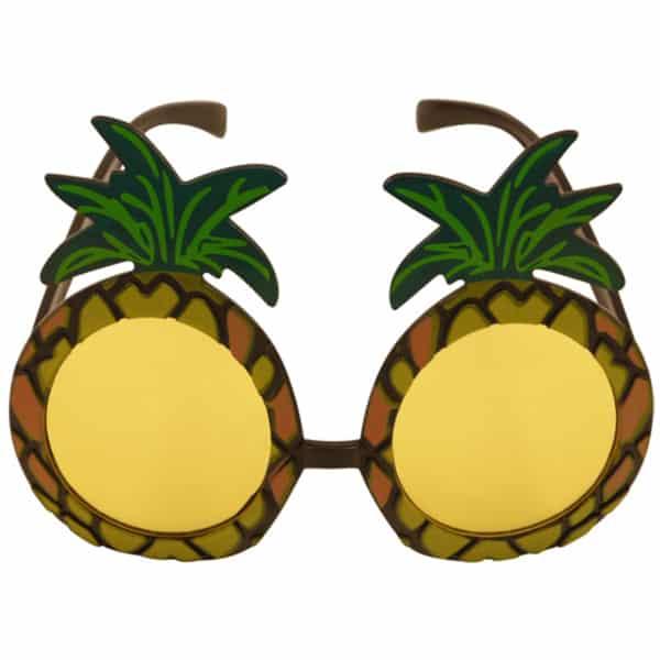 Tropical Pineapple Hawaiian Fancy Dress Glasses Product Image