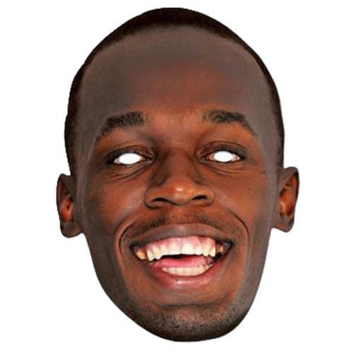 Usain Bolt Cardboard Face Mask Product Image
