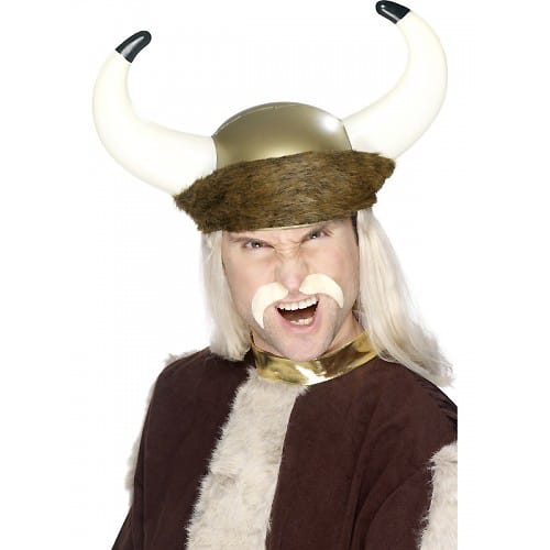 Blonde Viking Fancy Dress Moustache