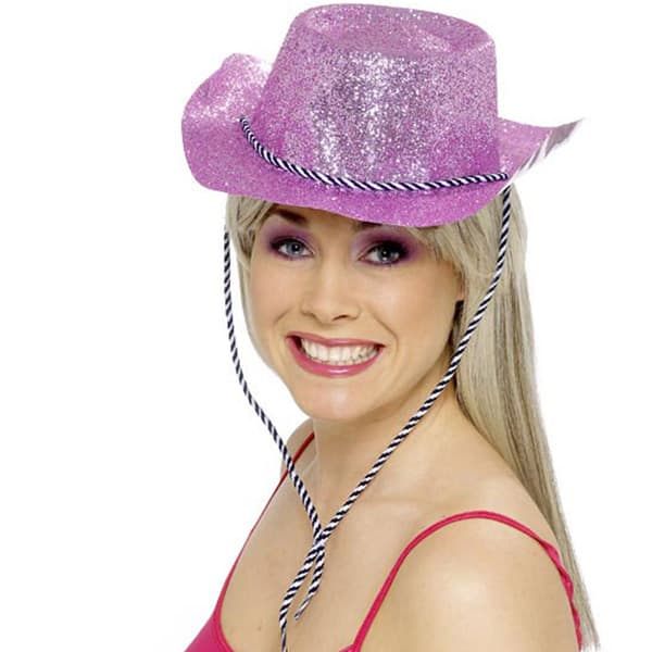 Pink Glitter Cowboy Hat Product Image