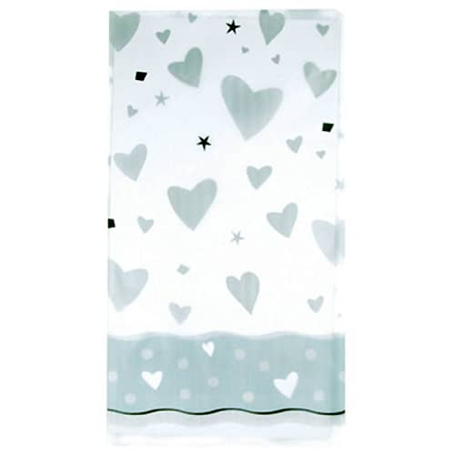 Wedding Bells Plastic Tablecover 213cm x 137cm
