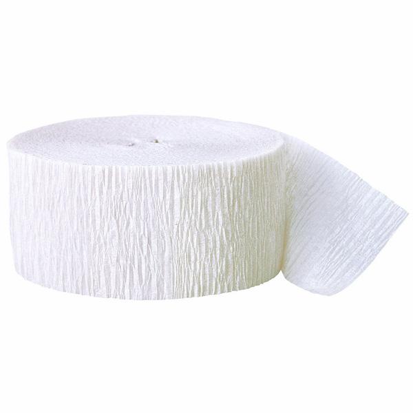 White Crepe Streamer - 81 Ft / 24.6m Product Image