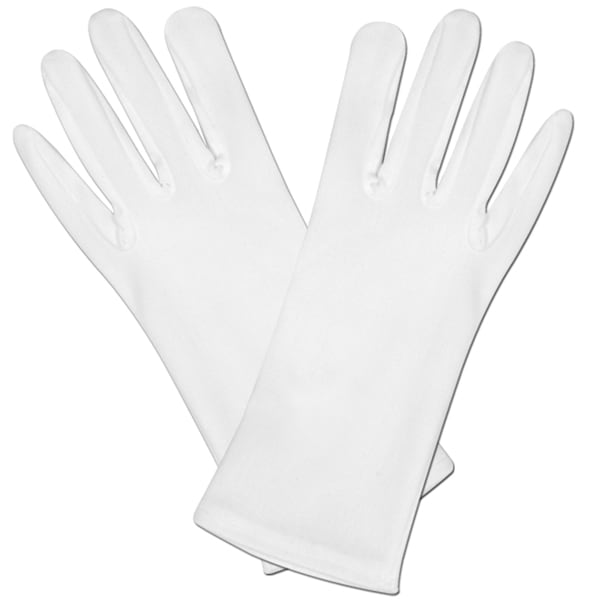 White Fancy Dress Gloves Product Image