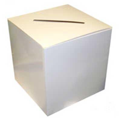 White Wedding Card Box - 12 Inches / 30cm