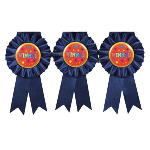 Winner Award Rosette – Pack of 3
