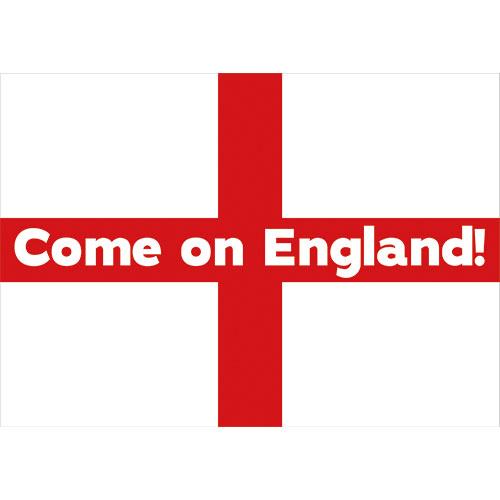 A0 Come on England Party Sign Decoration 119cm x 84cm