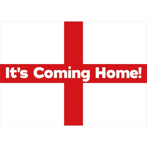 A1 It's Coming Home England Party Sign Decoration 84cm x 59cm Product Image