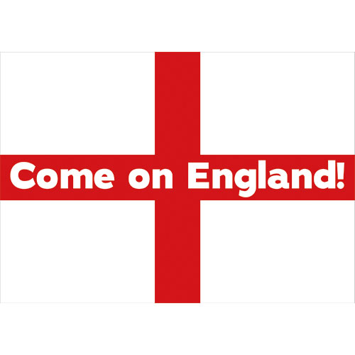 A2 Come on England Party Sign Decoration 59cm x 42cm
