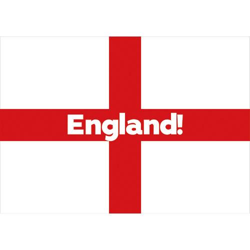 A2 England Party Sign Decoration 59cm x 42cm