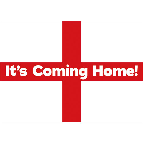 A2 It's Coming Home England Party Sign Decoration 59cm x 42cm Product Image