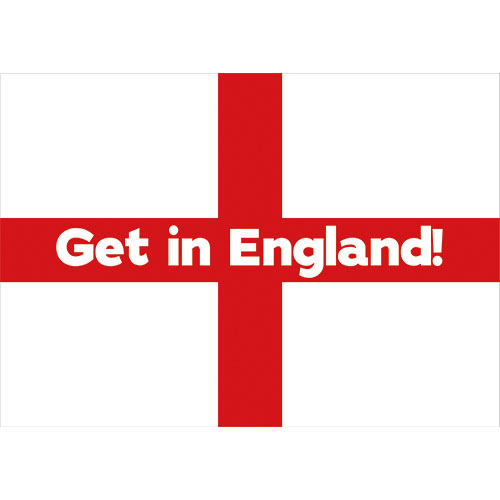 A3 Get in England Party Sign Decoration 42cm x 30cm Product Image