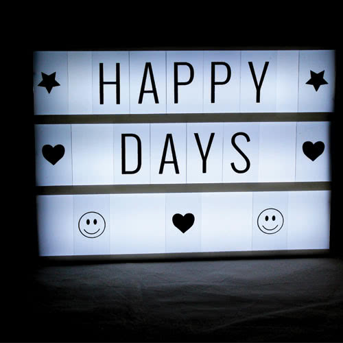 A4 Light Up Led Cinematic Message Board 30cm